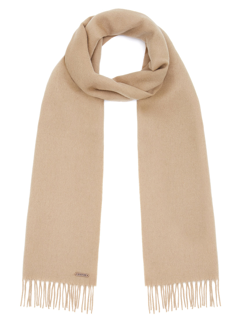 Country Scarf - Camel - Oxford Blue