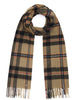 Country Check Scarf - Black/Khaki Check - Oxford Blue
