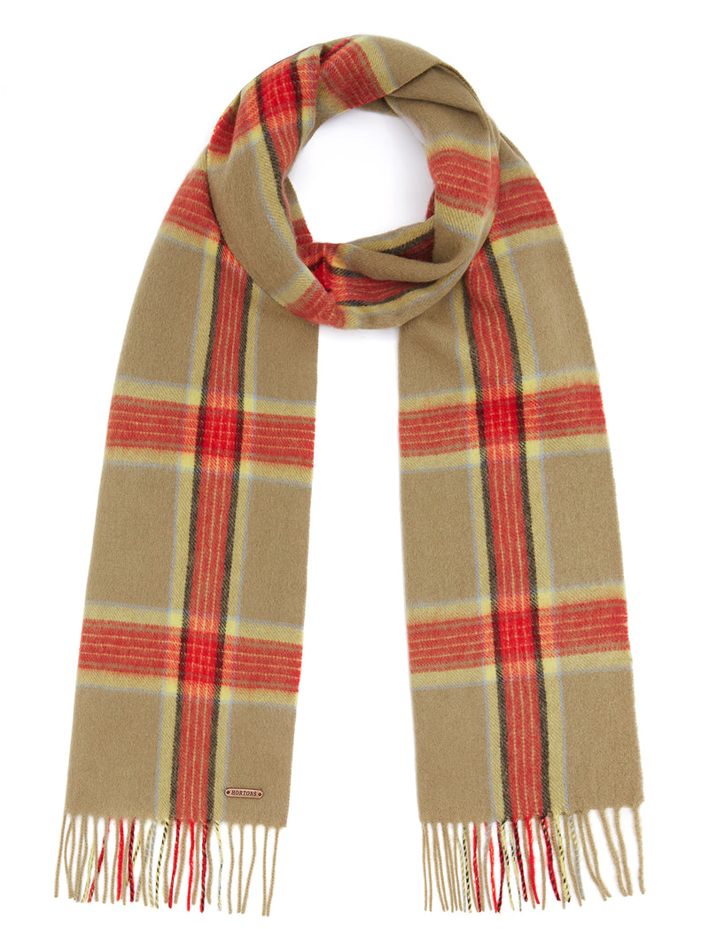 Country Check Scarf - Green/Red Check