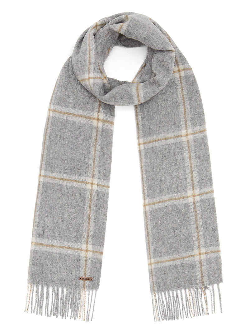 Country Check Scarf - Grey