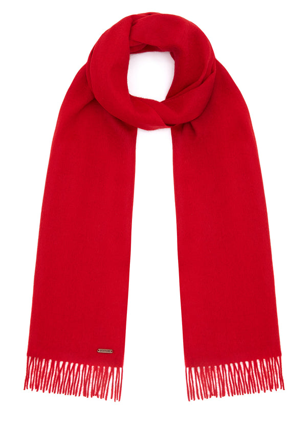 Country Scarf - Red - Oxford Blue