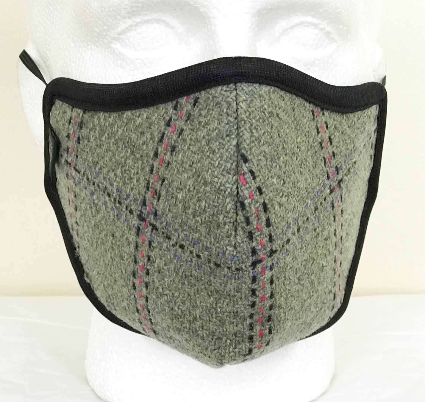 FM04 - Wool Face Mask - 04 GREY - Oxford Blue