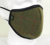FM01 - Mix Wool Tweed Face Mask - DARK GREEN (5907/51) - Oxford Blue