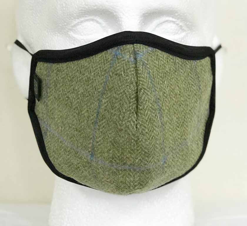 FM04 - Wool Face Mask - LIGHT GREEN - Oxford Blue