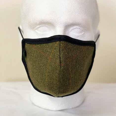 FM01 - Mix Wool Tweed Face Mask - LOVAT (5433/22) - Oxford Blue
