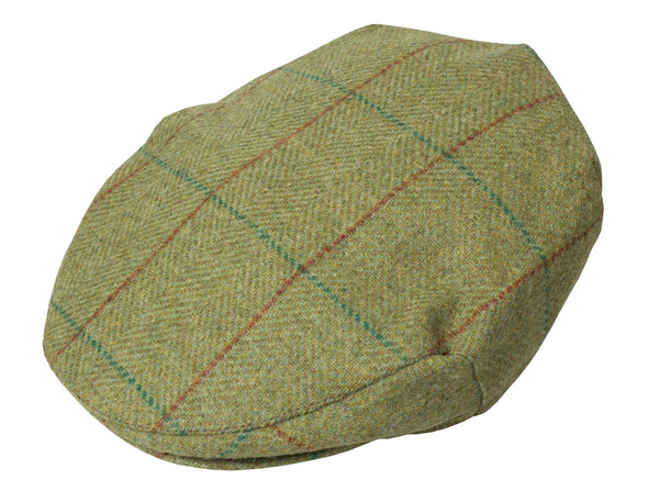HW43 - Lanark Wool Tweed Cap - Oxford Blue