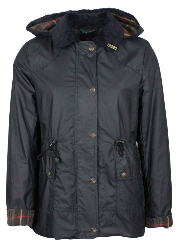W307 - Women's Breathable/Waterproof Wax Jacket - BLACK - Oxford Blue