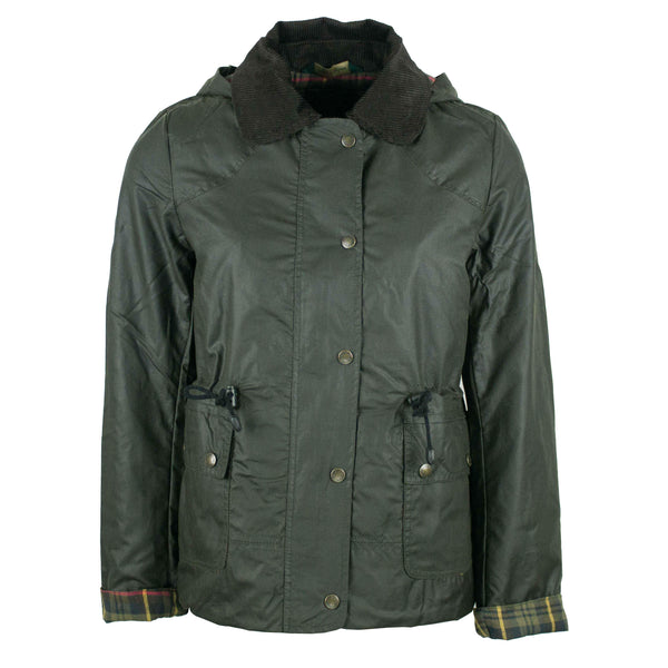 W307 - Women's Breathable/Waterproof Wax Jacket - OLIVE - Oxford Blue