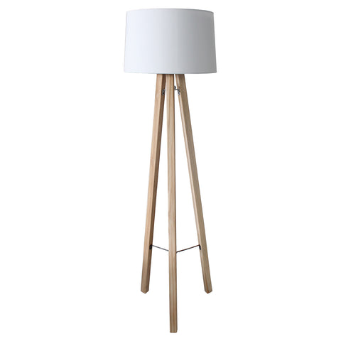 Floor Lamp - Alberta (Natural & White)