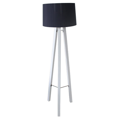 Floor Lamp - Alberta (White & Dark Blue)
