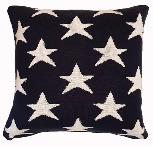 Cushion Cover - Tishia dark navy (L/50x50cm) | Gaya Alegria