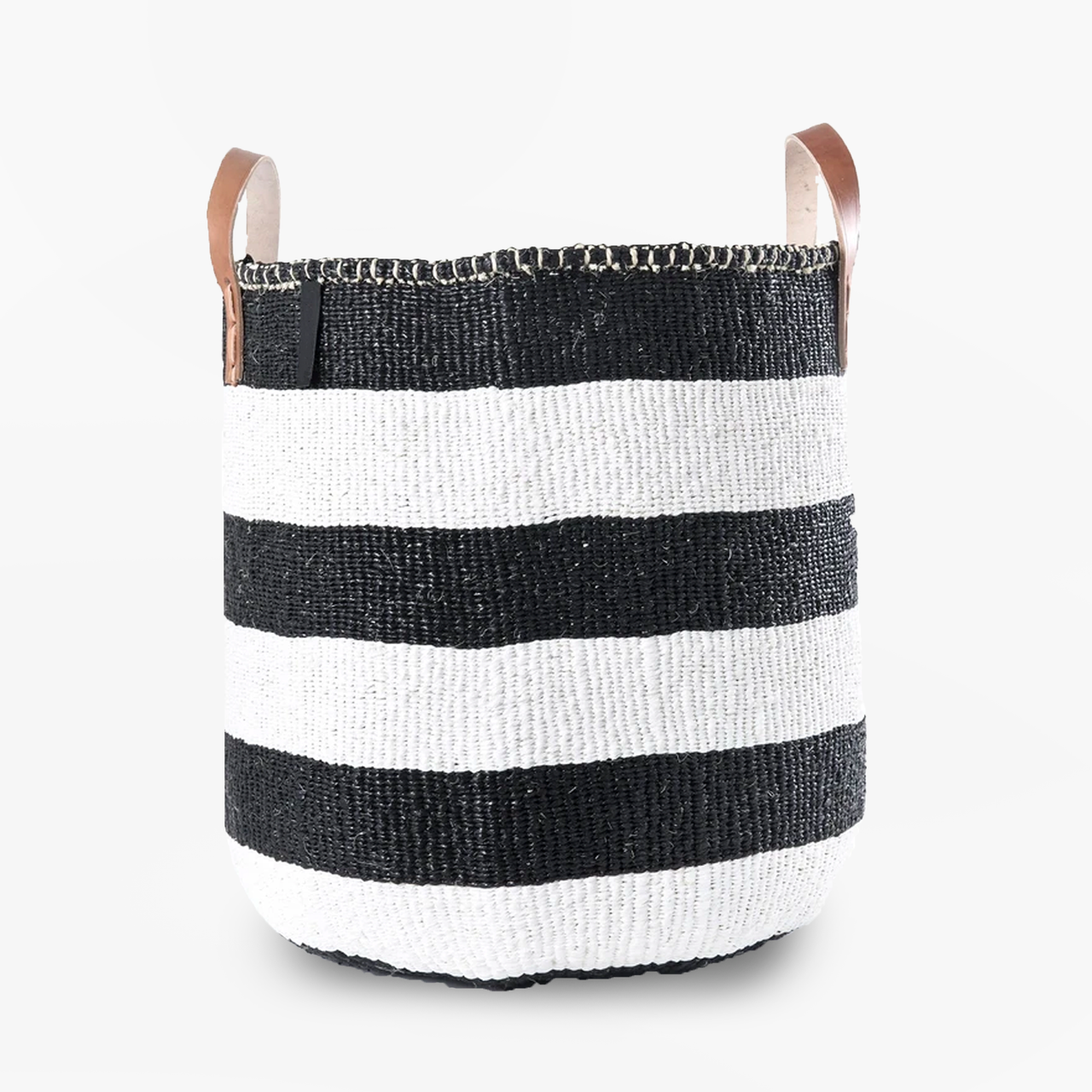 Mono Basket - Adia Black with Leather Handles