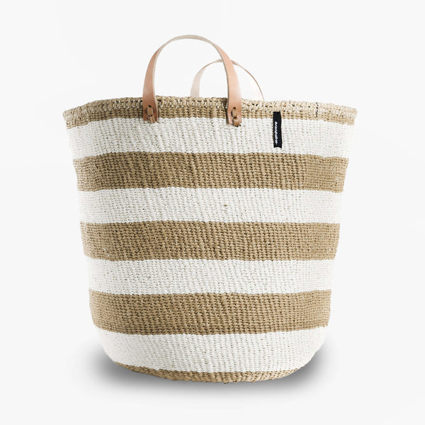 Mono Basket - Adia Light Brown with Leather Handles