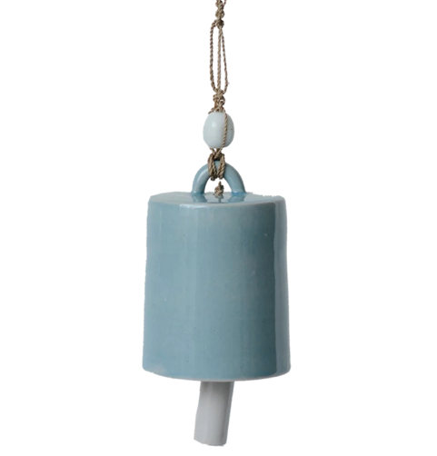 Cool Blue Ceramic Bell