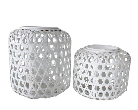 Lantern - ALEXIS - White  (Small & Large)
