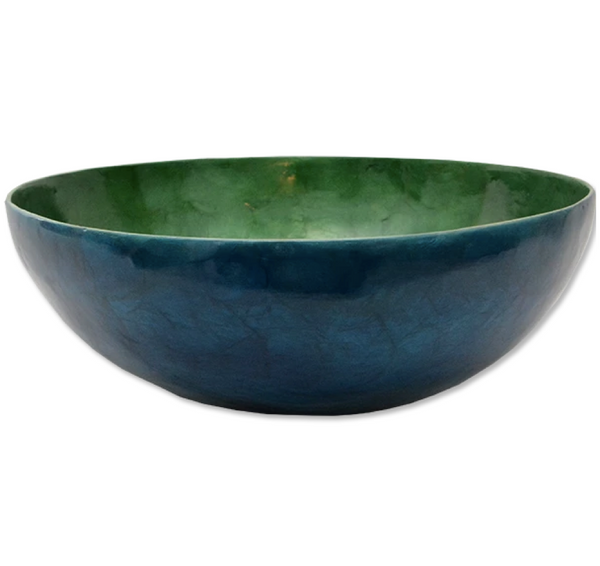 Midnight bLue Capiz Salad Bowl | Gaya Alegria