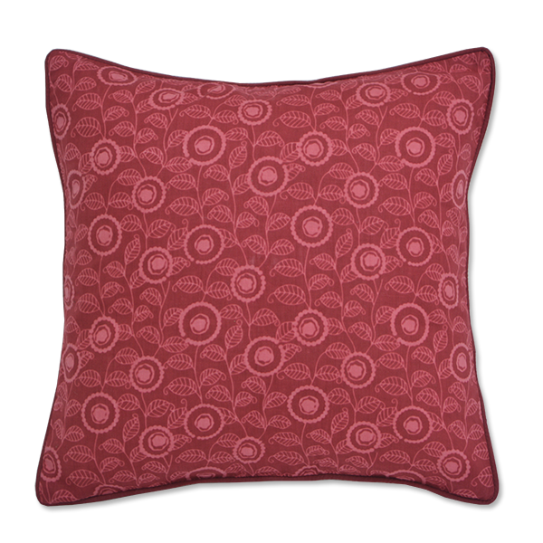 Cushion Cover - Keia Dark Red (S / 35x35cm) | Gaya Alegria