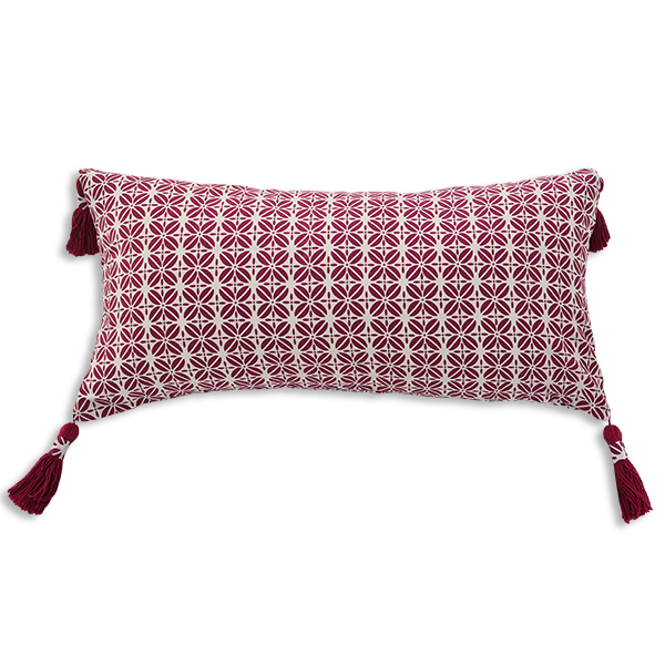 Cushion Cover - Kopi Luak Beet red (30x60) | Gaya Alegria