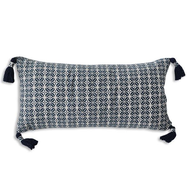 Cushion Cover - Kopi Luak Midnight Blue (30x60) | Gaya Alegria