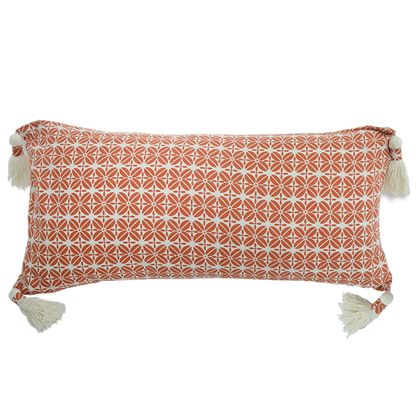 Cushion Cover - Kopi Luak Orange (30x60) | Gaya Alegria