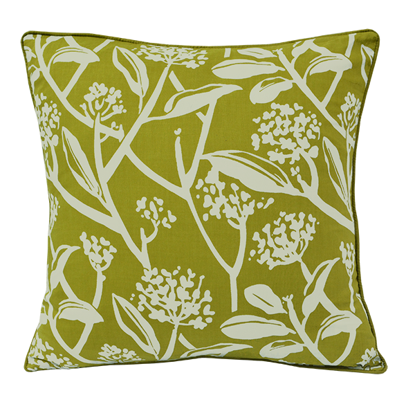 Cushion Cover - Frani Lime green (Medium / 45x45cm) | Gaya Alegria