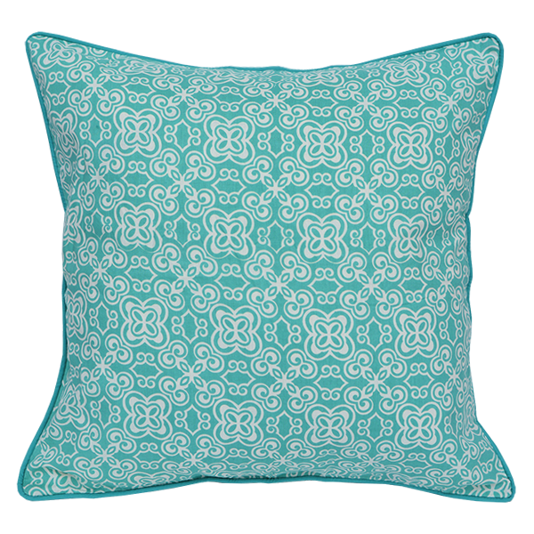 Cushion Cover - Basque Turquoise (M/45x45cm) | Gaya Alegria