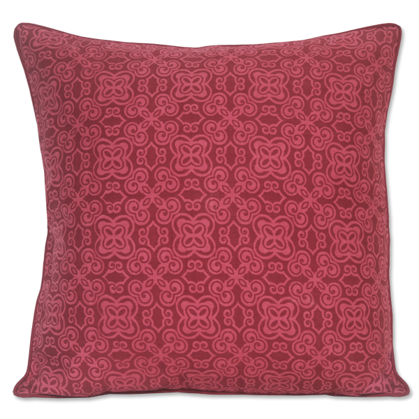 Cushion Cover - Batika Dark red (M / 45x45cm) | Gaya Alegria