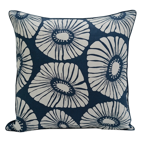 Cushion Cover - Blue flower (M/45x45cm) | Gaya Alegria