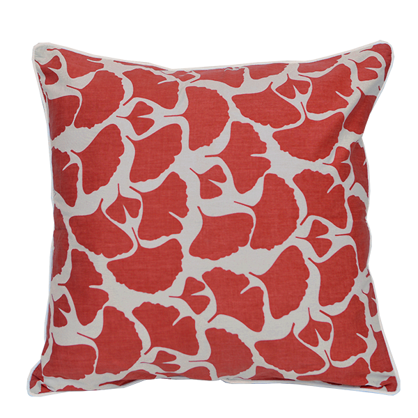 Cushion Cover - Umbela Red Coral (M / 45X45cm) | Gaya Alegria
