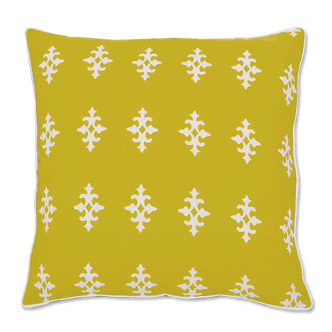 Cushion Cover - Gemma Citrus Yellow (Medium / 45x45cm) | Gaya Alegria