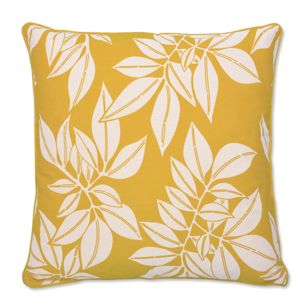 Cushion Cover (L) - Hoja Yellow (65X65cm) | Gaya Alegria