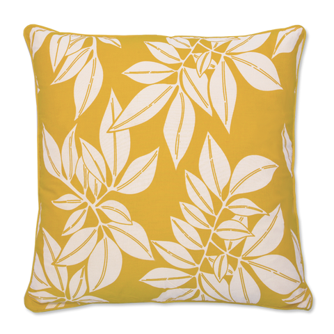 Cushion Cover (M) - Hoja Yellow (45x45cm) | Gaya Alegria