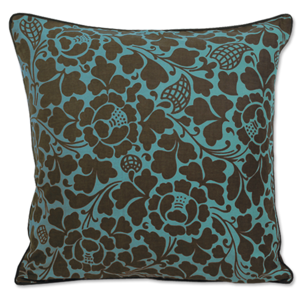 Cushion Cover - Passio Teal brown (M / 45X45cm) | Gaya Alegria