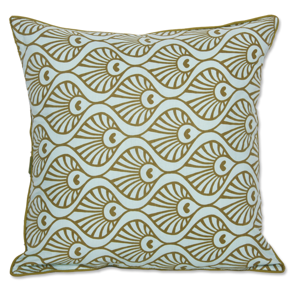 Cushion Cover - Pavo Olive (M) | Gaya Alegria