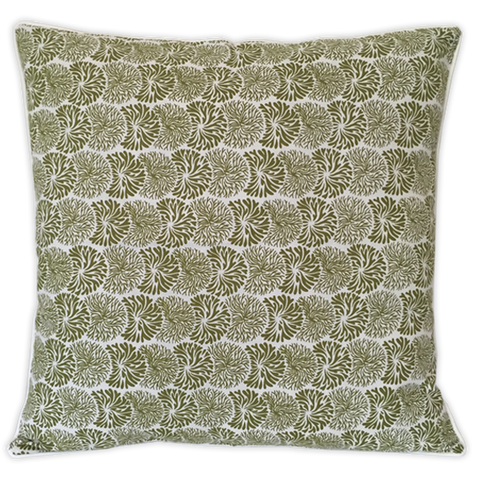 Cushion Cover - Litia Dark Olive (M / 45X45cm) | Gaya Alegria