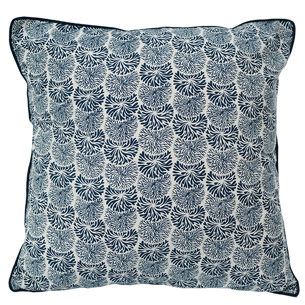 Cushion Cover - Litia Midnight Blue (M/45X45cm) | Gaya Alegria