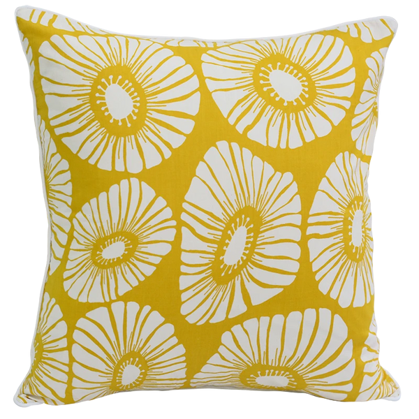Cushion Cover - Citrus Yellow flower (L/50x50cm) | Gaya Alegria