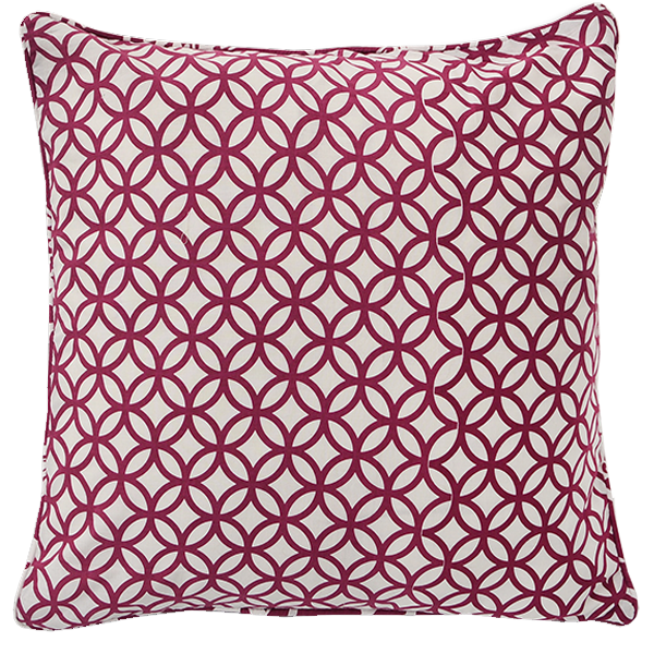 Cushion Cover - Rings Beet red (L/50X50cm) | Gaya Alegria