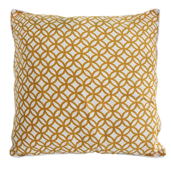 Cushion Cover - Cincin Citrus Yellow (L/50x50cm) | Gaya Alegria