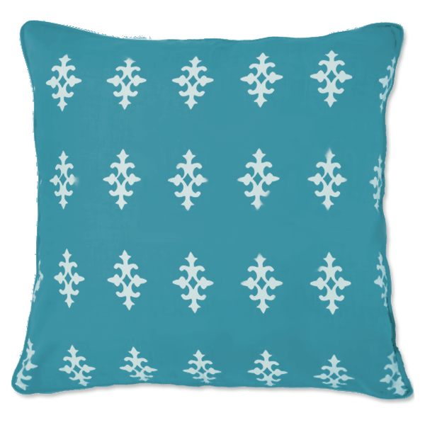 Cushion Cover - Gemma Teal (Medium / 45x45cm) | Gaya Alegria