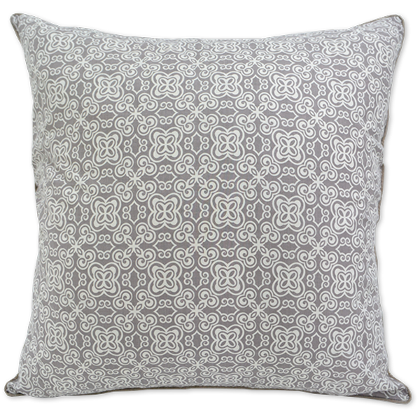 Cushion Cover (L) - Pale Brown Batik (65X65cm) | Gaya Alegria