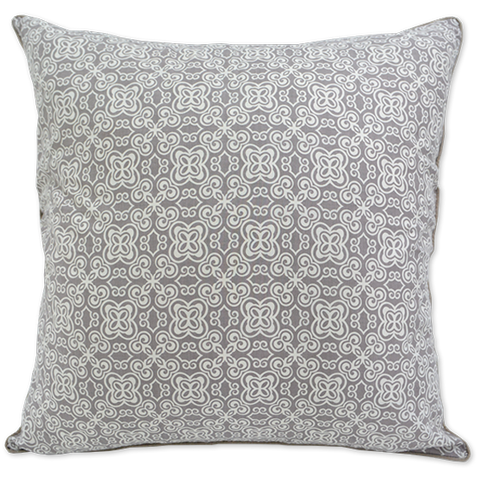 Cushion Cover (L) - Pale Brown Batik (65X65cm)