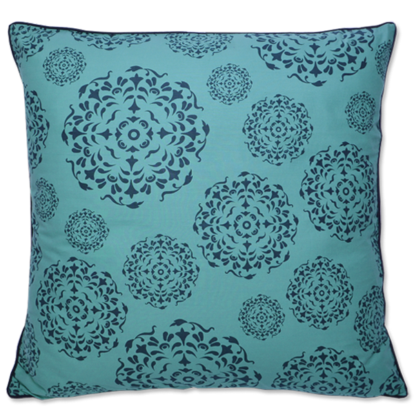Cushion Cover - Universe Teal Indigo (Large / 65x65cm) | Gaya Alegria