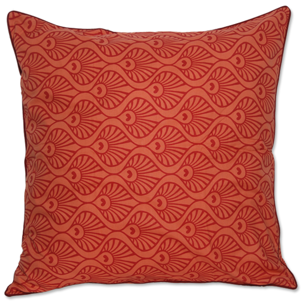 Cushion Cover - Pavo Red Orange (XL) | Gaya Alegria