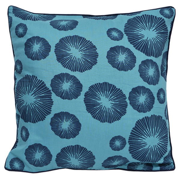 Cushion Cover - Marae Teal Navy (M/45x45cm) | Gaya Alegria