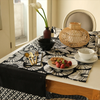 Table Runner - Black & White (200 cm) | Gaya Alegria