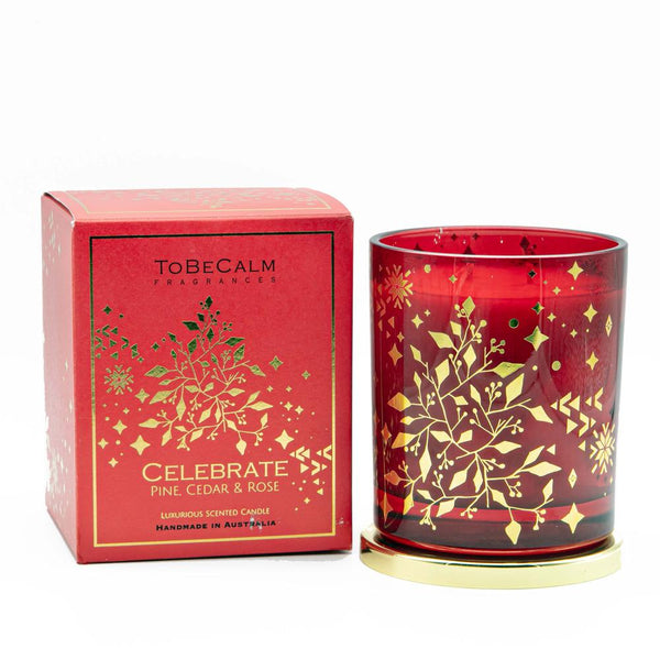 Christmas Scented Candle - To Be Calm - Celebrate (L) | Gaya Alegria