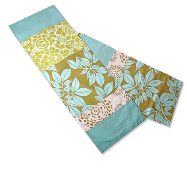 Table Runner - Olive Aqua Cotton - 250 cm