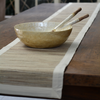 White Capiz & Durian Wood Salad Servers | Gaya Alegria