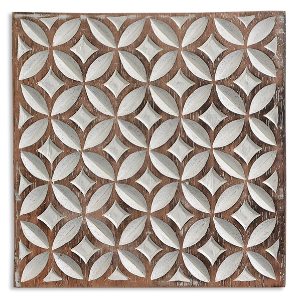 Wooden Trivet - White washed | Gaya Alegria